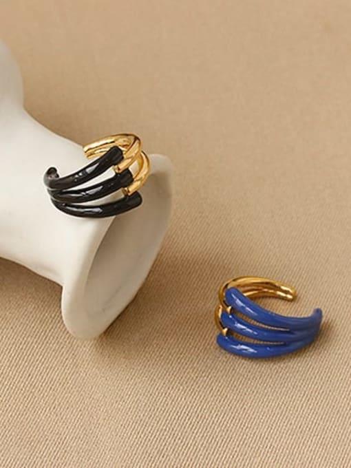 ACCA Zinc Alloy Enamel Geometric Minimalist Band Ring 2