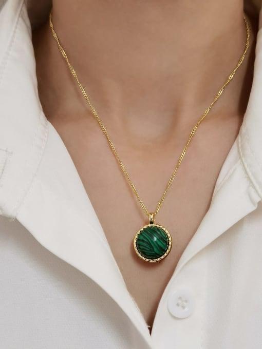 HYACINTH Brass Imitation Pearl Geometric Minimalist Necklace 2