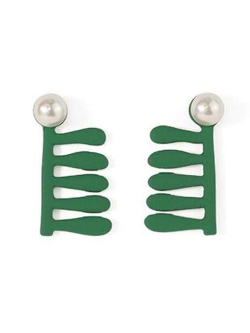 Five Color Alloy Geometric Cute  Comb Stud Earring 3