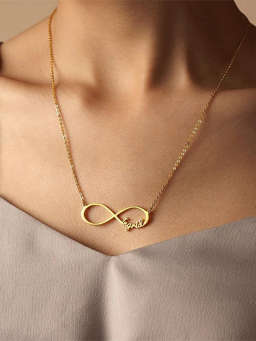 Desoto Stainless steel  Minimalist Stainless steel custom name  DIY  Necklace 1