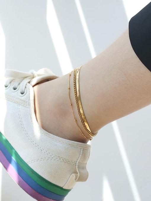 TINGS Brass  Irregular Minimalist Anklet 1