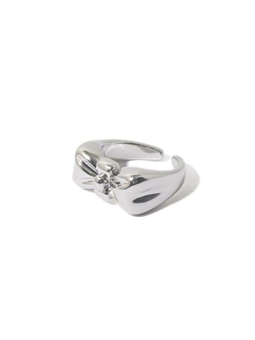 TINGS Brass Bowknot Hip Hop Band Ring 4
