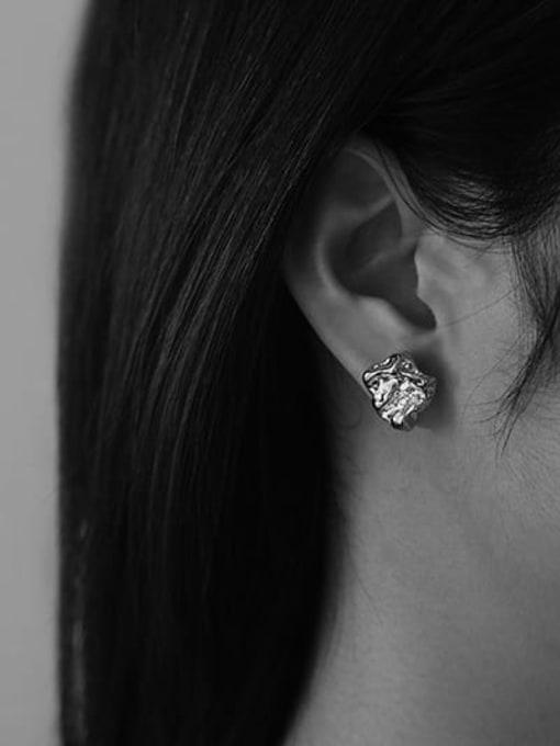 TINGS Brass Irregular Minimalist Stud Earring 1