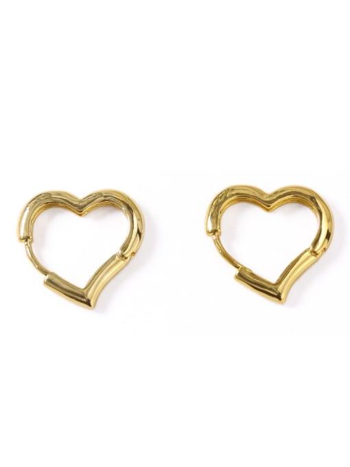 ACCA Brass Hollow Heart Minimalist Stud Earring