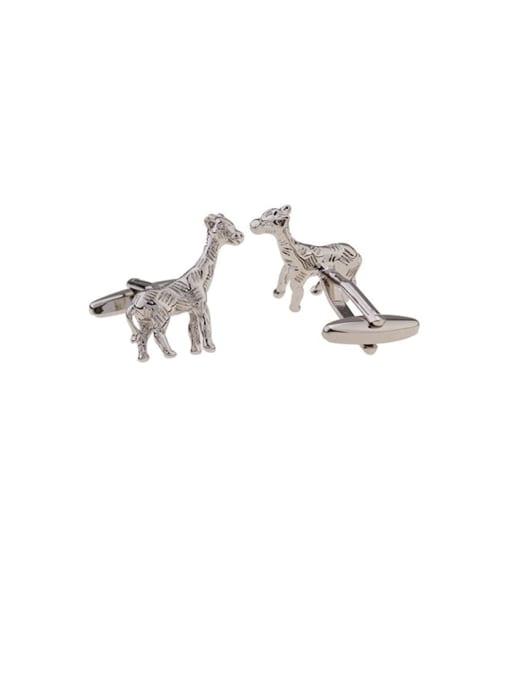ThreeLink Brass Deer Vintage Cuff Link 0