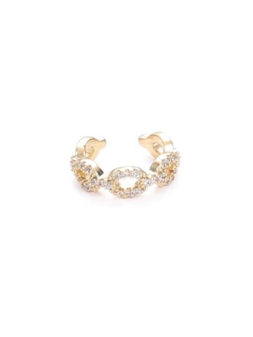Zircon (Single) Brass Cubic Zirconia Geometric Minimalist Single Earring