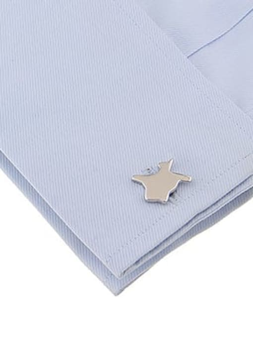 ThreeLink Brass Smooth Star Vintage Cuff Link 1