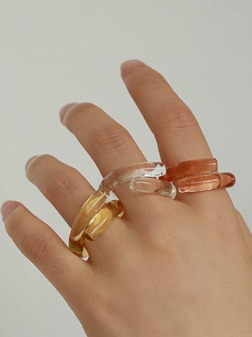 ACCA Coloured Glaze Geometric Minimalist Band Ring 2