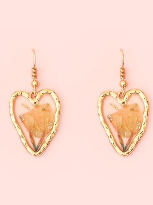 Five Color Alloy Heart Bohemia Hook Earring 2