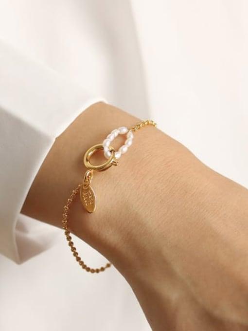 ACCA Brass Bead Geometric Vintage Beaded Bracelet 1
