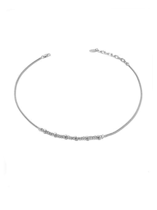 Platinum Brass  Hollow Geometric Hip Hop Necklace