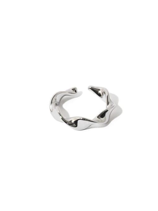 TINGS Brass Smooth Irregular Minimalist Band Ring 0