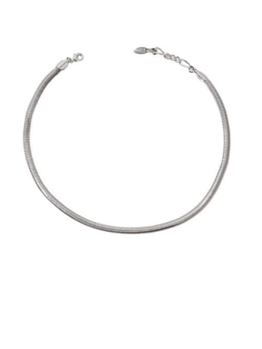 Snake bone chain Brass Snake Minimalist Necklace