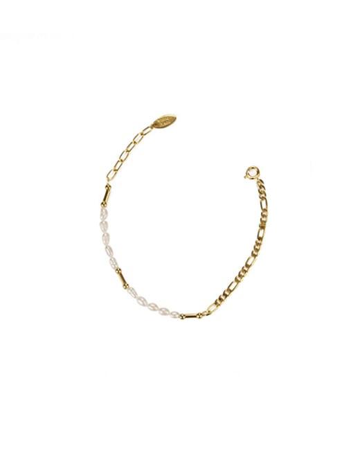Pearl Bracelet Brass Freshwater Pearl Irregular Minimalist Necklace