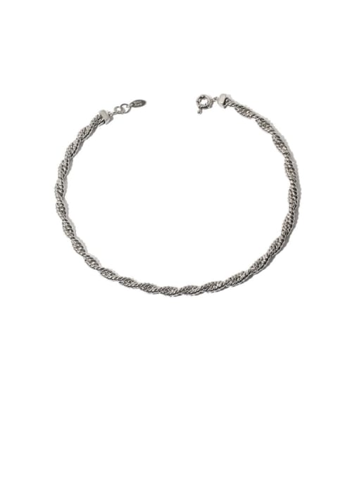TINGS Brass Hemp rope twist chain Hip Hop Necklace 0
