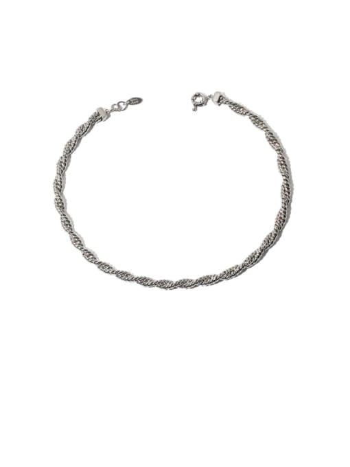 TINGS Brass Hemp rope twist chain Hip Hop Necklace