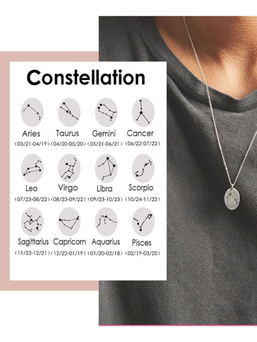 Desoto Stainless steel Constellation Minimalist  geometry Pendant Necklace 0