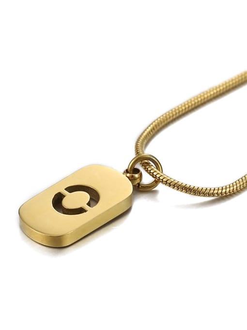 Number 0 Titanium Steel Number Minimalist Pendant Necklace
