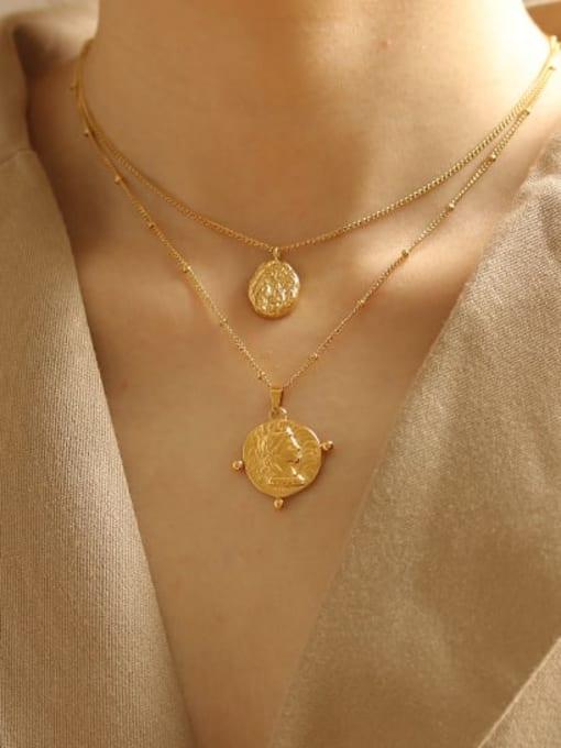 ACCA Titanium Geometric concave Vintage pendant Necklace 1