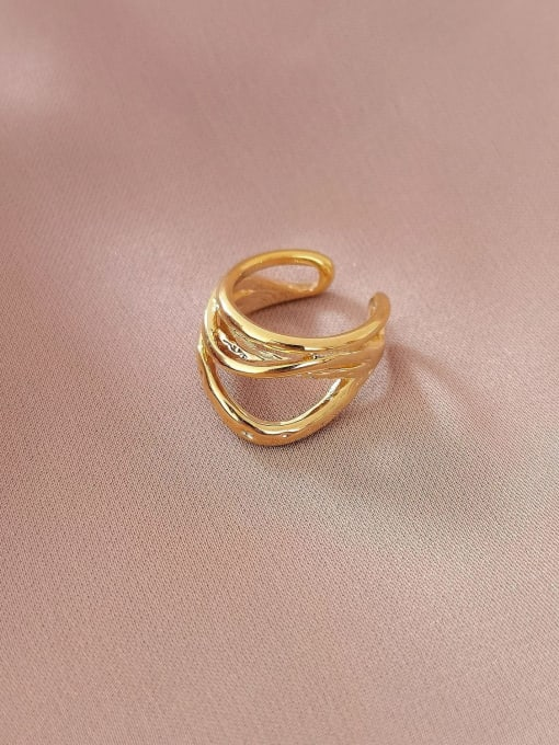 14k Gold Brass Geometric Minimalist Stud Earring