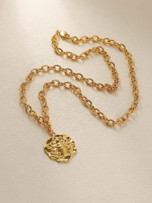 HYACINTH Brass Vintage Geometric Pendnat Trend Korean Fashion Necklace 4