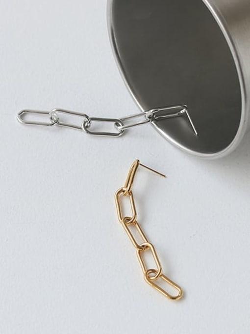ACCA Brass Hollow Geometric Chain Vintage Drop Earring 4