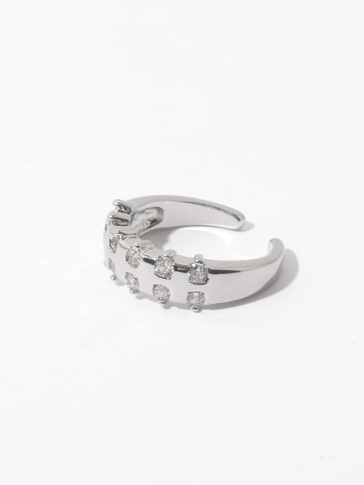 ring (not adjustable) Brass Cubic Zirconia Geometric Vintage Band Ring