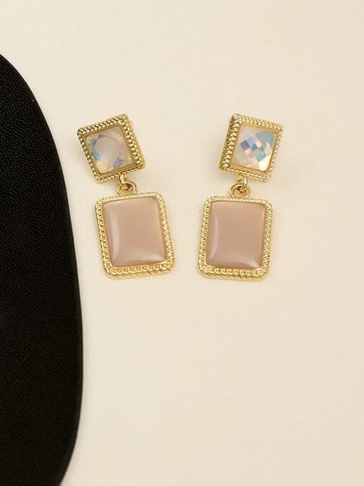 HYACINTH Copper Resin Geometric Vintage Drop Earring 1