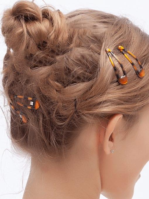 DINGHM Alloy Multi Color Enamel Minimalist Water Drop  Hair Barrette 1