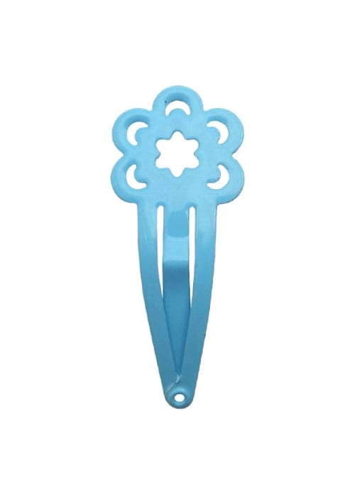 5 water blue Alloy Multi Colo Enamel Cute Flowerr Hair Barrette