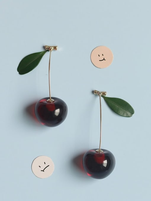 Five Color Alloy Friut Minimalist Earring 1