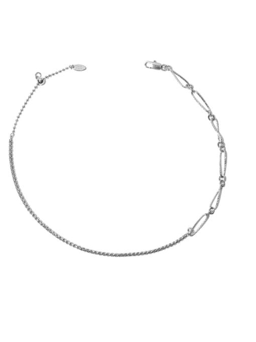 Hollow chain Brass Geometric Hip Hop Lariat Necklace