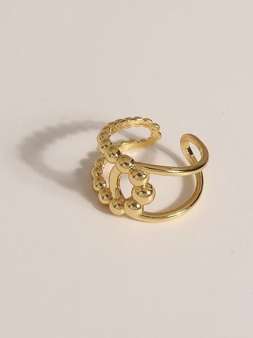 JZ103 Brass Geometric Vintage Band Ring