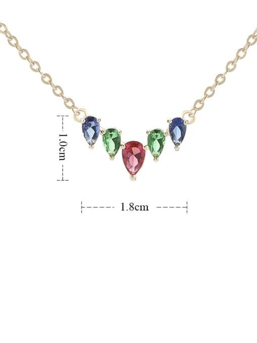 YILLIN Brass Cubic Zirconia Heart Minimalist Necklace 2