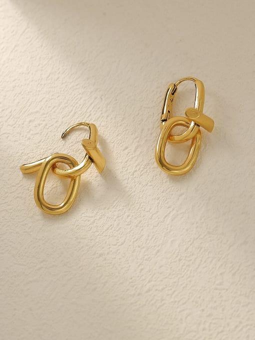 HYACINTH Brass Hollow Geometric Vintage Drop Trend Korean Fashion Earring 3
