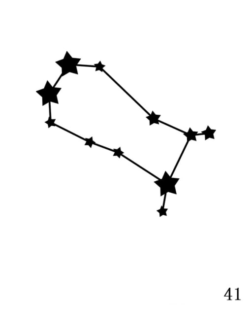 Golden XZ 41 Gemini Stainless steel Constellation Minimalist  geometry Pendant Necklace