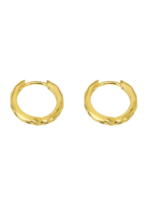 HYACINTH Copper Rhinestone Geometric Minimalist Huggie Earring