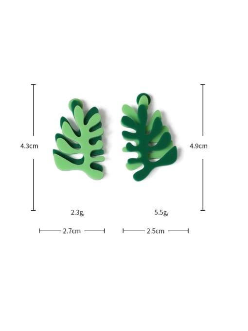 Five Color Alloy Enamel Tree Cute Stud Earring 1