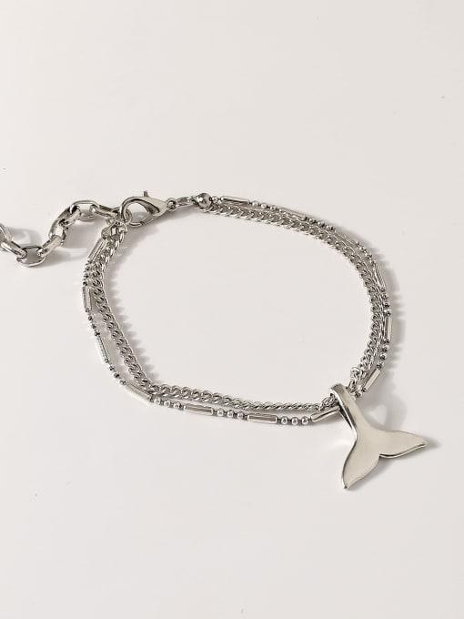 HYACINTH Alloy Fish tail Vintage Strand Bracelet