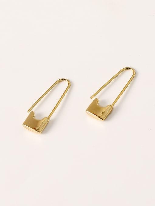 HYACINTH Brass Geometric Minimalist Hook Earring 0
