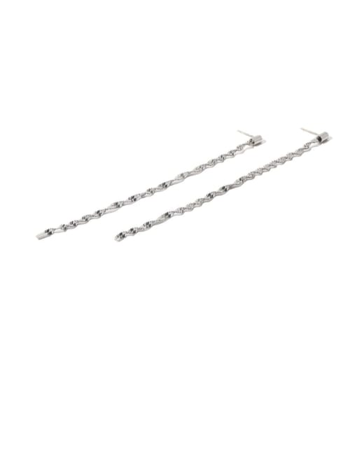 TINGS Brass Tassel Minimalist Threader Earring 0