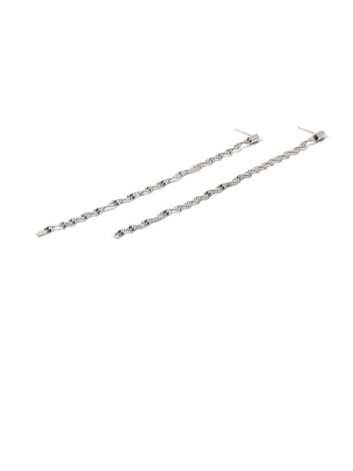 TINGS Brass Tassel Minimalist Threader Earring