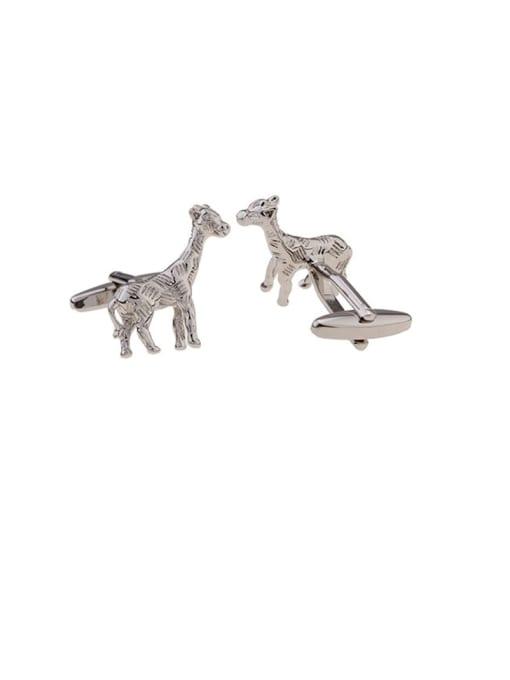 white steel Brass Deer Vintage Cuff Link