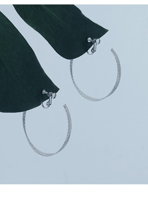 Five Color Brass Geometric Minimalist Clip Earring 0