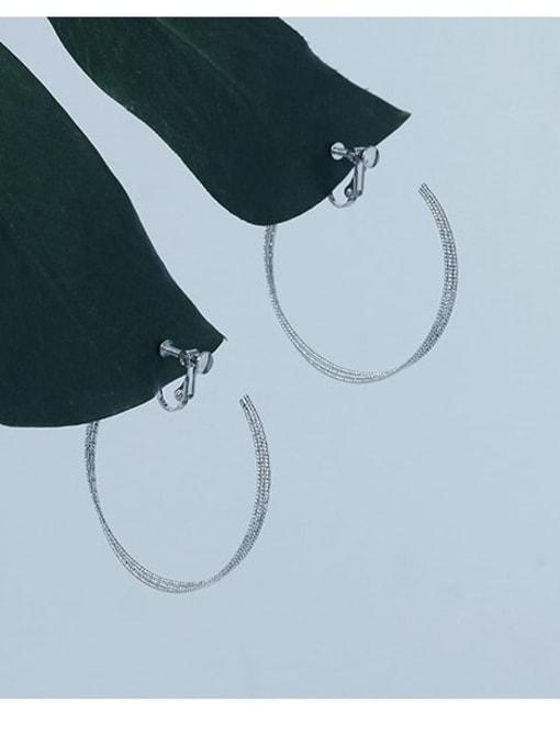 Five Color Brass Geometric Minimalist Clip Earring