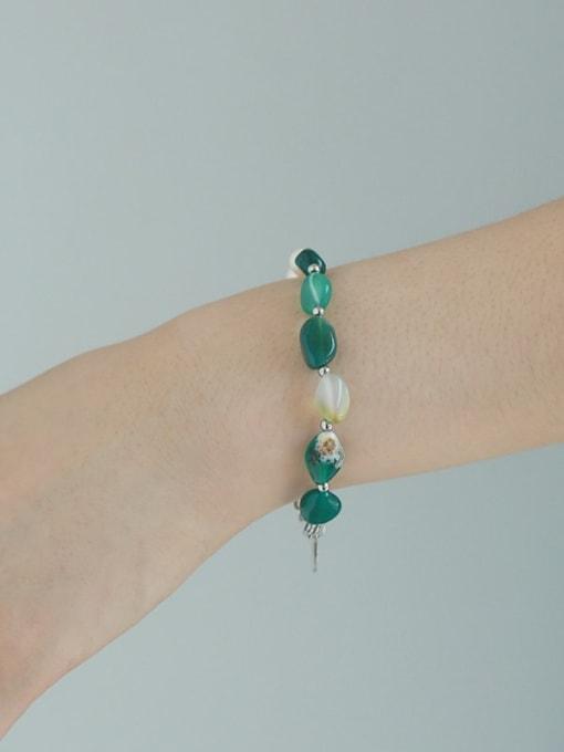 TINGS Brass Freshwater Pearl Irregular Vintage Beaded Bracelet 1