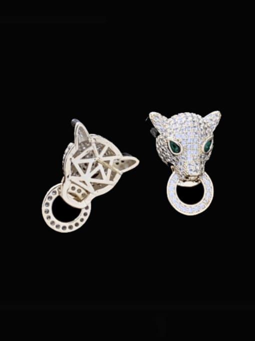 SUUTO Brass Cubic Zirconia Leopard Luxury Stud Earring 1