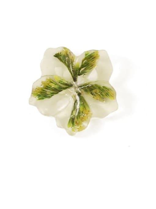 Five Color Alloy Enamel Flower Cute Stud Earring 3