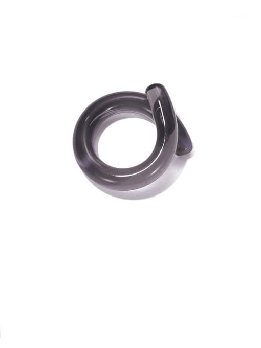 Black ring Coloured Glaze Geometric Minimalist Band Ring
