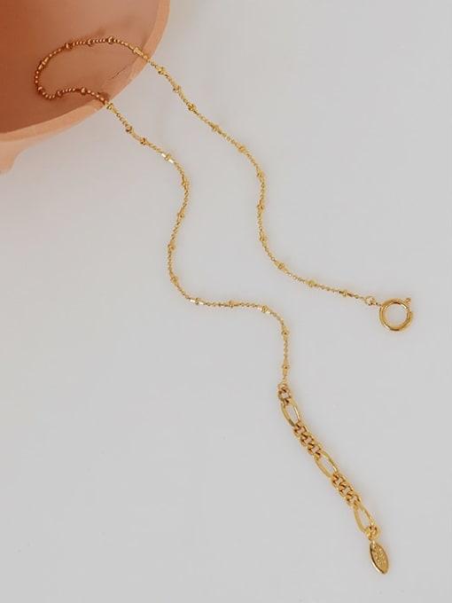 Five Color Brass Irregular Line Minimalist Necklace 2